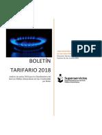 Boletin tarifario gas colombia 2018