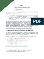 Unidad 1 Generalidades de La Consultoria