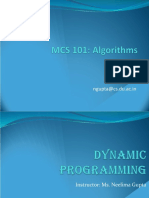 Lecture 13 Dynamic Programming