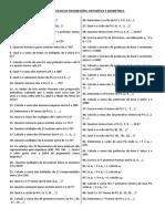 Lista de Exercc3adcios Pa e Pg