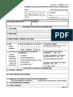EPassport Application Form Adult