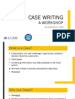 Case Writing for NUML 2019