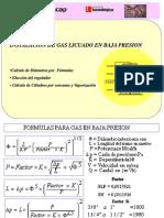 Calculo gas baja presion