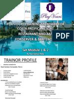 Costa Pasifica Bar and Service Training