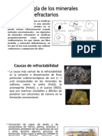 Mineralogía de Los Minerales Refractarios