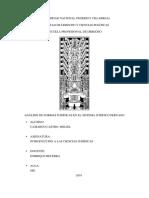 Análisis de Normas Jurídicas en El Sistema Jurídico Peruano