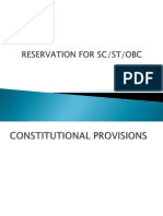 Reservation for SC, ST and OBC