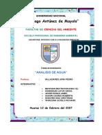 DETERMINACIÓN DE PARÁMETROS DEL AGUA