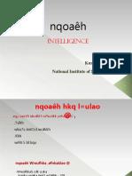 Intelligence Final New