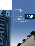 Normativas para aprobación y participación