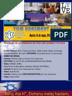 Yom Hahazmaut 5779 en Guayaquil-Ecuador