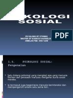 PSIKOLOGI SOSIAL BENTANG