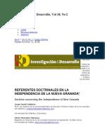 (3) Conde, Jorge. 2010. Referentes Doctrinales en La Independencia de La Nueva Granada.