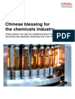 Chinese Blessing for the Chemicals Industry