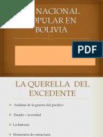 Lo Nacional Popular en Bolivia