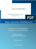 Italia 1 Trim 2019 - Pil Debito & Co