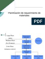 Planificación de Requerimiento de Materiales