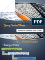 Types of Educational Planning
