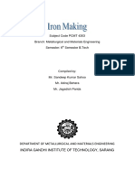 Lecture Notes Iron Making (PCMT4303)-6th Sem BTech (Metallurgy)