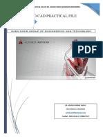 Auto Cad 2014 Practical File 1