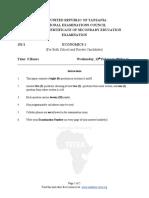Economics 1 - F6 - 2013