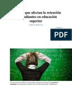 factores que afectan al estudiante