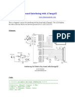 4x4 Matrix Key-board Interfacing With ATmega32