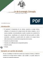 Variación de La Energía-Entropía