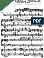 Himno Paraguay partitura piano