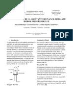 Informe Constante de Planck