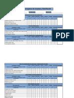 Cronograma de Limpieza y Desinfección Chrysler