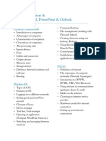 Basic of Computer & MSOffice Syllabus