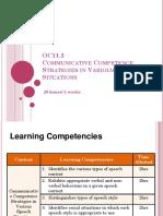 Communciative Competence