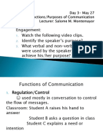 Day 3- Functions of Communication