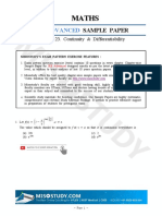 2019 Jee Advanced Sample Paper Mathematics 23. Continuity a Differentiability