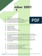 September 2001 Paper 1 MRCOG