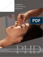 Acupuncture According Traditional Chinese Medicine PHD