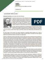 Alexandre Herculano - Século XIX - Centro Virtual Camões - Camões IP
