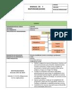 Manual de Cargo y Responsabilidades