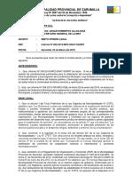 Informe Nº Seguridad Ciudadana y Limpieza Publica