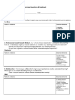 interview form for mock interviews