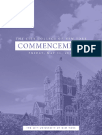 The City College of New York 2019 Commencement Program