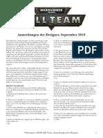 Kill Team Anmerkungen Der Designer German