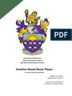 Emotion Based Music Player (Manchester Univ)