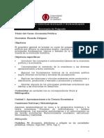 Programa- Economia Politica
