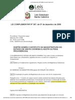 Lei Complementar 367 2006 de Santa Catarina SC