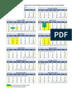 Calendario 2019 Compensação