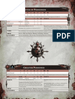 Forgeworld data sheet