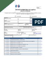 Formato de Solicitud de Materiales Agentes Autorizados DOMESA