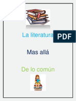 La Literatura mas alla de lo comun - resumen